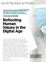 Reflecting Human Values in the Digital Age