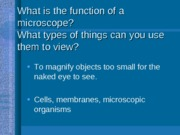 Microscopes Notes