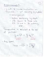 PHYS 1118 Fall 2010 Temperature and KE of Particles Lecture Notes