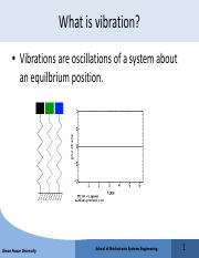 Lec19 pdf - What is vibration Vibrations are oscillations of a