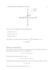 MATH 3 FAll 2011 Exponentials and Logarithms Notes