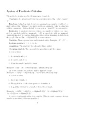 Predicate Calculus notes