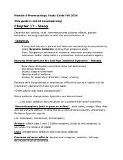 Module 4 Pharmacology Study Guide