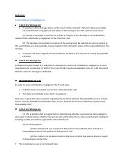 Torts notes - Defences.docx