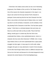 Essay on Indiana Jones and The temple of doom
