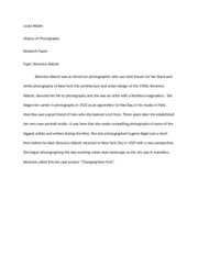 Research Paper topic intro