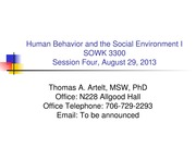 GRU SOWK 3300 Session 4- Social Work and Theory