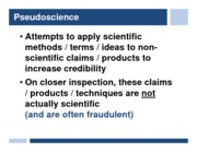 lecture 13 - pseudoscience