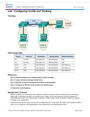 6.2.2.5 Lab - Configuring VLANs and Trunking