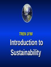 TREN Intro_to_Sustainability part I 2012