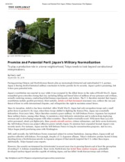 0904 Promise and Potential Peril_ Japan's Military Normalization _ The Diplomat nP.pdf