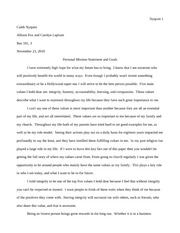 How to write a good personal statement for university