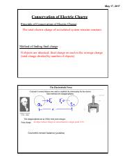 5-17-2017 Electrostatics Day 2