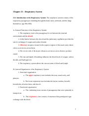 Chapter 23 _ Respiratory System _Notes with blanks_McKinley