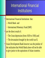 FMI-Unit-09-International Financial Institutions.ppt
