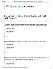 Economics – Multiple Choice Questions (MCQ) with Answers - Page 6 of 8 - Scholarexpress.pdf