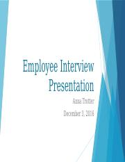 Employee Interview Presentation