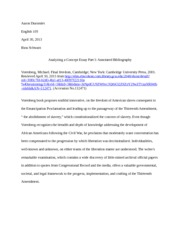 Module 5 -  Analyzing a Concept Essay Part I- Annotated Bibliography
