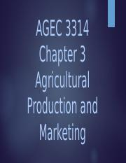 Chapter 3 AGEC 3314