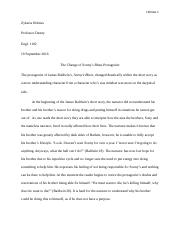 Essay One Rough Draft