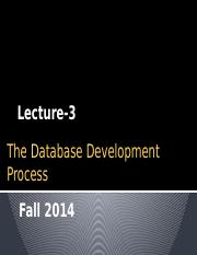 [Lecture-3] Database Design