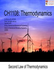 CH1108 Chapter 4_Second Law of Thermodynamics