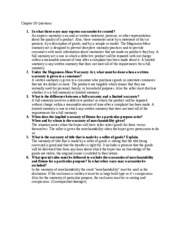 Chapter 18 Questions