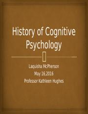 Lmcpherson_History of Cognitive Psychology
