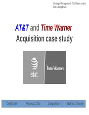 AT&T and Time Warner  Acquisition case study