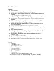 Theme 1 Study Guide