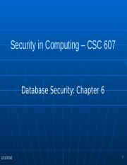 CSC 607 Chapter6_Database_Security_jfg