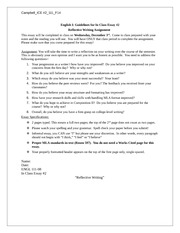 essay prompt reflective writing