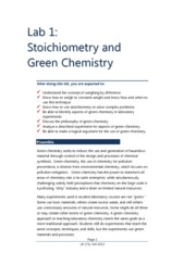 Stoichiometry+and+Green+Chemistry+FA13