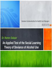 DeMartino, Rice, & Saltz - 2015- Applied Test of Social Learning Theory -Module 11