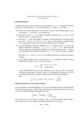 Statistical Mechanics and RationingClass Notes week 1