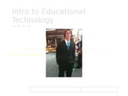 Intro to Educational Technology