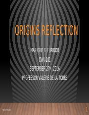Marjorie Fleuridor-Origins reflection