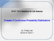 STAT1012 Ch5 Continuous Probability Distribution