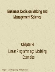 linear programming in business decision making