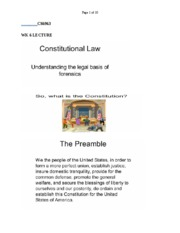 CS6963 WK 6  COSTITUTIONAL LAW LECTURE