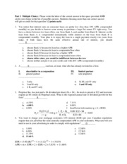 Fin 301 Midterm 091015 A Solution
