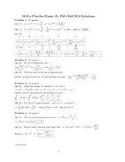ES 1801 Fall 2014 Practice Exam 1B Solutions