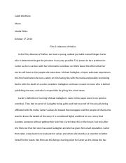 Absence of Malice Paper #2.docx