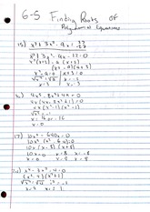 Homework, Roots of Polynomial Equations