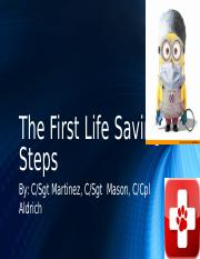 The First Life Saving Steps