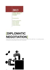 Diplomatic Negotiation Assignment