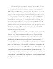 High School Argumentative Essay Topics  Pages Rene Descartes Essaydoc Essay Writing On Newspaper also Essay About Healthy Eating R Descartes  R Rene Descartes Rene Descartes Was Born On Ad In  High School Vs College Essay