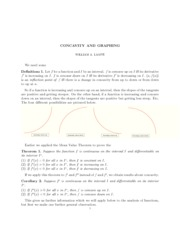 Concavity and Graphing Notes