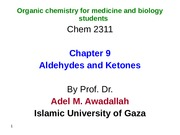 Organic Chemistry for Medicine chapter 9