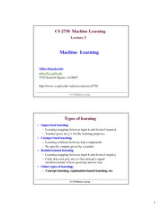 Lecture Notes B on Machine Learning